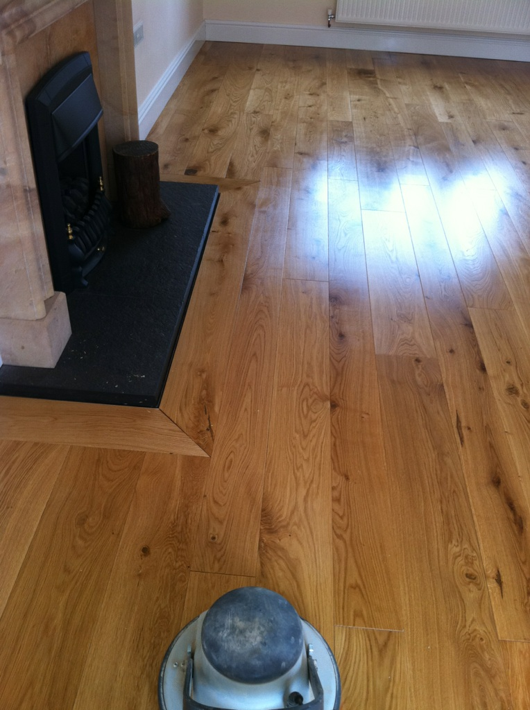Boen Solid Oak Wood Flooring Installed Bucknell Bicester Sika Mb Primer Adhesive Osmo Oil New
